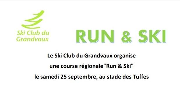 Dernières informations et rendez-vous:  Run&Ski de samedi